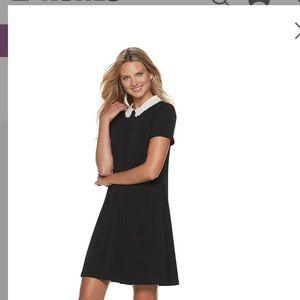 ELLE Embroidered Collar Shift Dress
